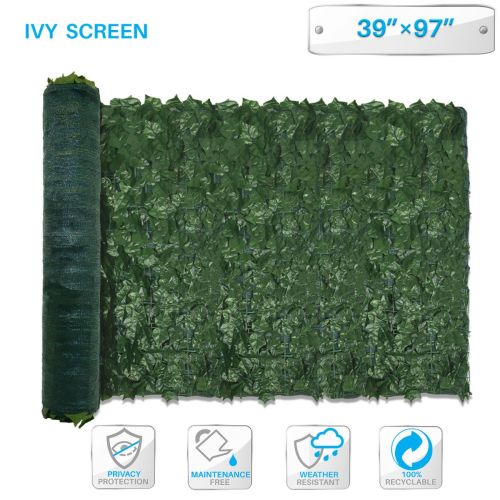 Artificial Faux Ivy Leaf Privacy Fence Screen Décor Panels Cover Outdoor Hedge